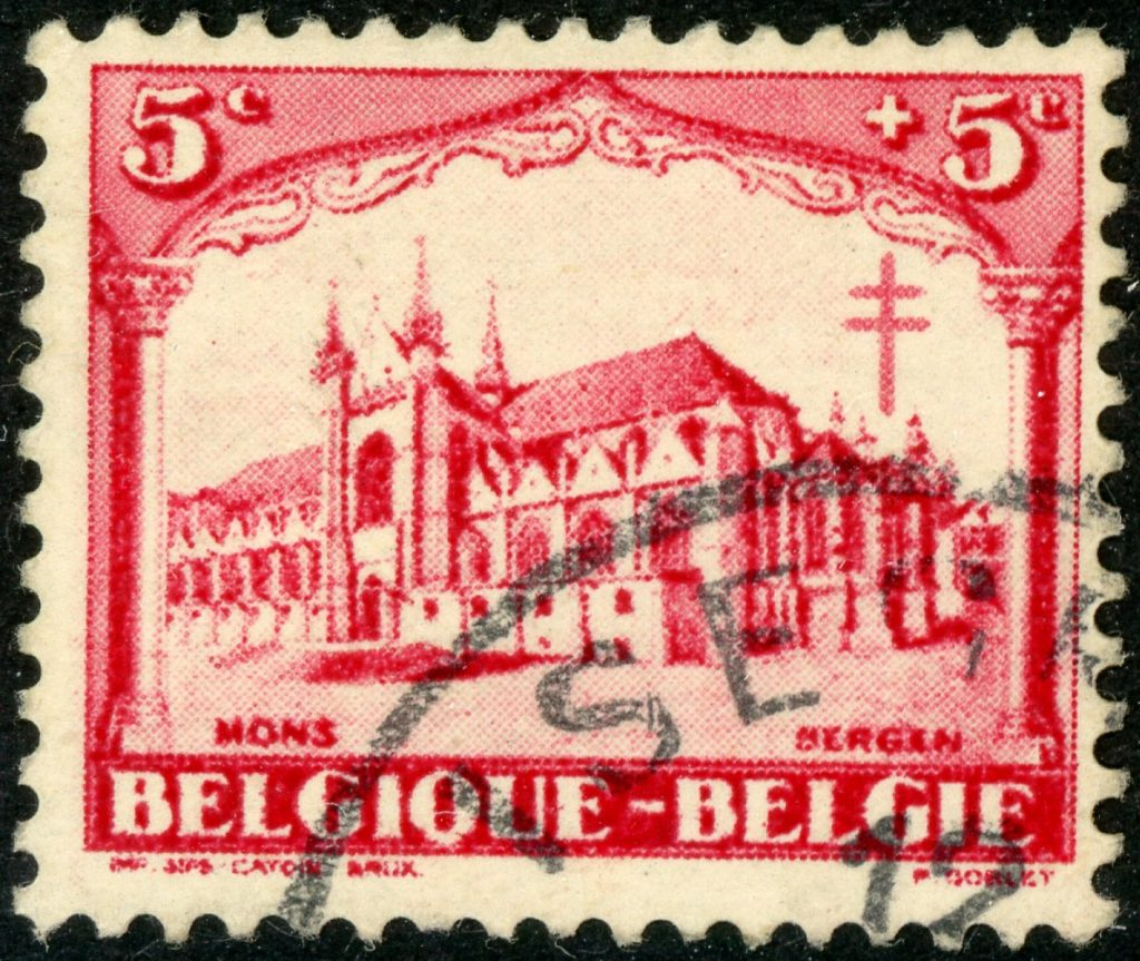 Belgien 244 gestempelt