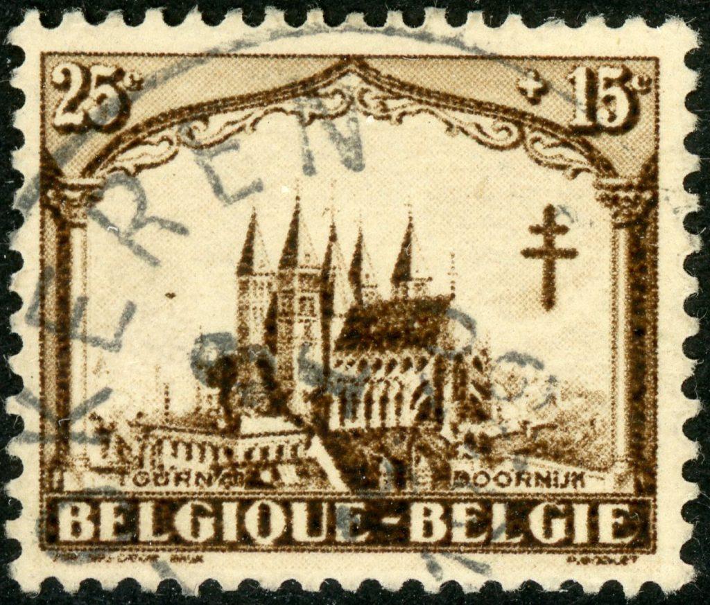 Belgien 245 gestempelt