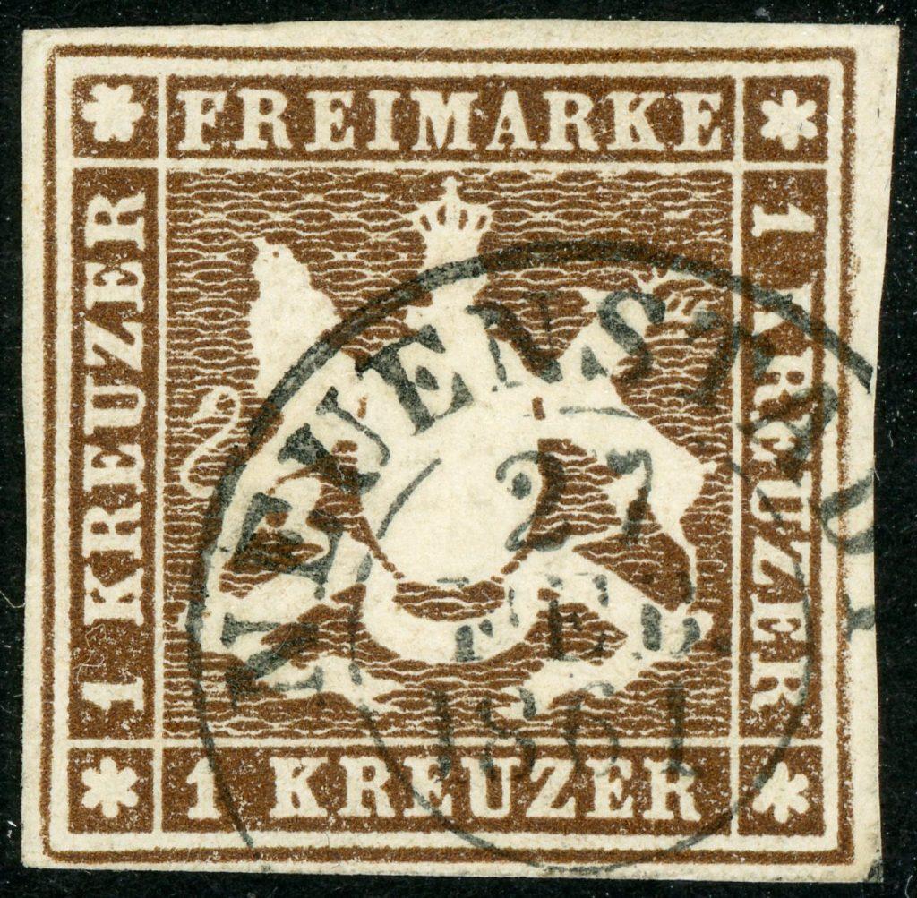 Württemberg 11a gestempelt